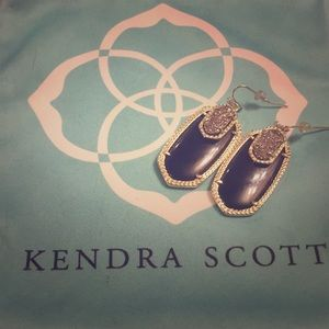 Kendra Scott Emmy Black Drusy Drop Earrings